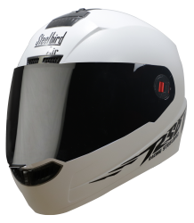 SBA-1 MOON DASHING WHITE ( FITTED WITH CLEAR VISOR EXTRA CLEAR VISOR FREE)