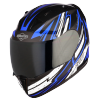 SA-1 BOOSTER MAT BLACK WITH BLUE - SMOKE VISOR (WITH EXTRA CLEAR VISOR)