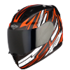 SA-1 BOOSTER MAT BLACK WITH ORANGE - SMOKE VISOR (WITH EXTRA CLEAR VISOR)