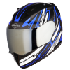 SA-1 BOOSTER MAT BLACK WITH BLUE - CHROME SILVER VISOR (WITH EXTRA CLEAR VISOR)