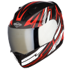 SA-1 BOOSTER MAT BLACK WITH RED - CHROME SILVER VISOR (WITH EXTRA CLEAR VISOR)