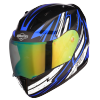 SA-1 BOOSTER MAT BLACK WITH BLUE - NIGHT VISION GREEN VISOR (WITH EXTRA CLEAR VISOR)