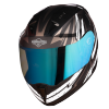 SA-1 BOOSTER MAT BLACK WITH GREY - NIGHT VISION BLUE VISOR (WITH EXTRA CLEAR VISOR)