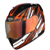 SA-1 BOOSTER MAT BLACK WITH ORANGE - NIGHT VISION GOLD VISOR (WITH EXTRA CLEAR VISOR)