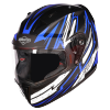 SA-1 BOOSTER MAT BLACK WITH BLUE - PHOTOCHROMIC VISOR