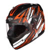 SA-1 BOOSTER MAT BLACK WITH ORANGE - PHOTOCHROMIC VISOR