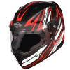 SA-1 BOOSTER MAT BLACK WITH RED - PHOTOCHROMIC VISOR