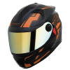 SBH-17 ROBOT TERMINATOR M FLAT BLACK WITHUO LIGHT ORANGE CHROME GOLD VISOR