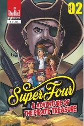 COMIC BOOK SUPER FOUR AND ADVENTURE OF THE PIRATE TREASURE
