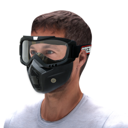 3 In 1 Mask With Clear