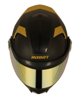 SBH-17 ROBOT GOLD EDITION ( FITTED WITH CLEAR VISOR EXTRA GOLD CHROME VISOR FREE)