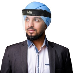 SBA-16 STATIC FACE SHIELD FOR TURBAN WEARING MEN