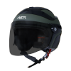 SB-29 AER MAT BATTLE GREEN WITH BLACK ( FITTED WITH CLEAR VISOR WITH EXTRA SMOKE VISOR FREE)