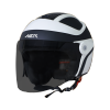 SB-29 AER MAT BLACK WITH OFF WHITE ( FITTED WITH CLEAR VISOR WITH EXTRA SMOKE VISOR FREE)