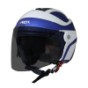SB-29 AER MAT Y.BLUE OFF WHITE ( FITTED WITH CLEAR VISOR WITH EXTRA SMOKE VISOR FREE)