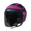 SB-29 AER MAT BLACK WITH PINK FITTED WITH CLEAR VISOR WITH EXTRA SMOKE VISOR FREE)