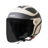 SB-29 AER MAT H.GREY WITH OFF WHITE (FITTED WITH CLEAR VISOR WITH EXTRA SMOKE VISOR FREE)