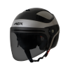 SB-29 AER MAT SILVER WITH BLACK (FITTED WITH CLEAR VISOR WITH EXTRA SMOKE VISOR FREE)