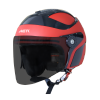 SB-29 AER MAT RED WITH BLACK (FITTED WITH CLEAR VISOR WITH EXTRA SMOKE VISOR FREE)