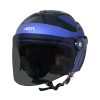 SB-29 AER MAT Y.BLUE WITH BLACK (FITTED WITH CLEAR VISOR WITH EXTRA SMOKE VISOR FREE)