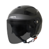 SB-29 AER MAT H.GREY WITH BLACK (FITTED WITH CLEAR VISOR WITH EXTRA SMOKE VISOR FREE)