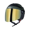 SB-29 AER MAT BATTLE GREEN WITH BLACK (FITTED WITH CLEAR VISOR WITH EXTRA CHROME GOLD VISOR FREE)