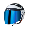 SB-29 AER MAT BLACK WITH OFF WHITE (FITTED WITH CLEAR VISOR WITH EXTRA CHROME BLUE VISOR FREE)