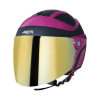 SB-29 AER MAT BLACK WITH PINK (FITTED WITH CLEAR VISOR WITH EXTRA CHROME GOLD VISOR FREE)