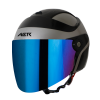 SB-29 AER MAT SILVER WITH BLACK (FITTED WITH CLEAR VISOR WITH EXTRA CHROME BLUE VISOR FREE)