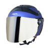 SB-29 AER MAT Y.BLUE (FITTED WITH CLEAR VISOR WITH EXTRA CHROME SILVER VISOR FREE)