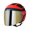 SB-29 AER MAT BLACK WITH RED (FITTED WITH CLEAR VISOR WITH EXTRA CHROME GOLD VISOR FREE)