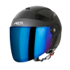 SB-29 AER MAT H.GREY WITH BLACK (FITTED WITH CLEAR VISOR WITH EXTRA CHROME BLUE VISOR FREE)