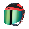 SB-29 AER GLOSSY FLUO WATERMELON WITH BLACK ( FITTED WITH CLEAR VISOR WITH EXTRA RAINBOW CHROME VISOR FREE)