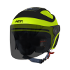SB-29 AER GLOSSY FLUO NEON WITH BLACK ( FITTED WITH CLEAR VISOR WITH EXTRA SMOKE VISOR FREE)
