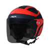 SB-29 AER MAT BLACK WITH RED (FITTED WITH CLEAR VISOR WITH EXTRA SMOKE VISOR FREE)