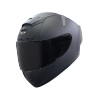 SA-2 MAT MID NIGHT BLACK ( FITTED WITH CLEAR VISOR WITH EXTRA SMOKE VISOR FREE)