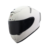 SA-2 MAT WHITE ( FITTED WITH CLEAR VISOR WITH EXTRA SMOKE VISOR FREE)