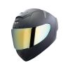 SA-2 MAT MID NIGHT BLACK ( FITTED WITH CLEAR VISOR WITH EXTRA CHROME GOLD VISOR FREE)