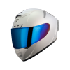SA-2 MAT SILVER ( FITTED WITH CLEAR VISOR WITH EXTRA CHROME BLUE VISOR FREE)