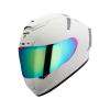 SA-2 MAT WHITE ( FITTED WITH CLEAR VISOR WITH EXTRA CHROME RAINBOW VISOR FREE)