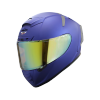 SA-2 MAT Y.BLUE ( FITTED WITH CLEAR VISOR WITH EXTRA NIGHT VISION GOLD VISOR FREE)