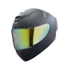 SA-2 MAT MID NIGHT BLACK ( FITTED WITH CLEAR VISOR WITH EXTRA NIGHT VISION GOLD VISOR FREE)