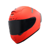 SA-2 GLOSSY FLUO RED (FITTED WITH CLEAR VISOR WITH EXTRA SMOKE VISOR FREE)