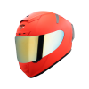 SA-2 GLOSSY FLUO RED (FITTED WITH CLEAR VISOR WITH EXTRA CHROME GOLD VISOR FREE)