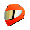 SA-2 GLOSSY FLUO ORANGE (FITTED WITH CLEAR VISOR WITH EXTRA CHROME GOLD VISOR FREE)