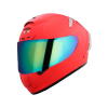 SA-2 GLOSSY FLUO WATERMELON (FITTED WITH CLEAR VISOR WITH EXTRA CHROME RAINBOW VISOR FREE)