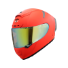 SA-2 GLOSSY FLUO RED (FITTED WITH CLEAR VISOR WITH EXTRA NIGHT VISION GOLD VISOR FREE)