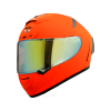 SA-2 GLOSSY FLUO ORANGE (FITTED WITH CLEAR VISOR WITH EXTRA NIGHT VISION GOLD VISOR FREE)