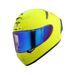 SA-2 GLOSSY FLUO NEON (FITTED WITH CLEAR VISOR WITH EXTRA NIGHT VISION BLUE VISOR FREE)