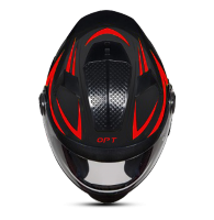 SBH-17 OPT REFLECTIVE MAT BLACK WITH RED
